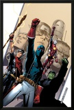 Young Avengers No.2 Cover: Patriot, Hulkling, Iron Lad, Wiccan, Young Avengers and Asgardian Prints by Jim Cheung