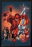 The Official Handbook Of The Marvel Universe: Daredevil 2004 Cover: Daredevil Print by Salvador Larroca