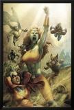 All New Savage She-Hulk No.4 Cover: Lyra, Sentry, Wolverine, Iron Patriot and Ms. Marvel Prints