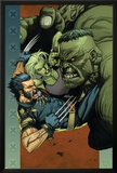Ultimate Wolverine vs. Hulk No.4 Cover: Wolverine, Hulk and She-Hulk Poster by Leinil Francis Yu