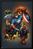 The Official Handbook Of The Marvel Universe: Avengers 2004 Cover: Captain America Photo by Salvador Larroca