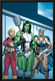 Hulk No.7 Group: She-Hulk, Valkyrie and Thundra Prints by Arthur Adams