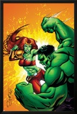 Hulk Team-Up No.1: Lyra and Hulk Poster by Steve Scott