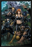 Ultimatum No.5 Cover: Grey, Jean, Beast, Wolverine, Cyclops, Colossus, Storm and Nightcrawler Posters by David Finch