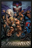 Ultimatum No.3 Cover: Magneto, Sabretooth, Madrox, Mystique, Blob, Quicksilver and Lorelei Print by David Finch