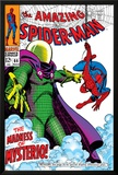 The Amazing Spider-Man No.66 Cover: Mysterio and Spider-Man Fighting Photo by John
