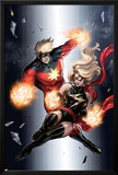 Ms. Marvel No.49 Cover: Ms. Marvel and Captain Marvel Posters by Sana Takeda
