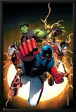 The Young Avengers No.1 Cover: Patriot, Hulkling, Wiccan, Iron Lad, Asgardian and Young Avengers Posters by Jim Cheung