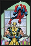 Marvel Holiday Special 2007 No.1 Cover: Spider-Man and Wolverine Posters by Ron Lim