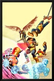Marvel Zombies 4 Cover: Cyclops, Angel and Beast Prints by Arthur Suydam