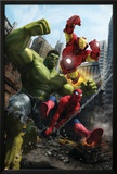 Marvel Adventures Iron Man Special Edition No.1 Cover: Iron Man, Hulk and Spider-Man Prints by Francisco Ruiz Velasco
