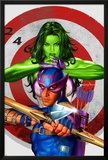 She-Hulk No.2 Cover: She-Hulk and Hawkeye Prints