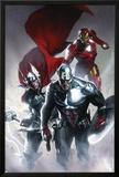 Secret Invasion No.6 Cover: Captain America, Thor and Iron Man Prints