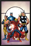 Marvel Adventures The Avengers No.39 Cover: Spider-Man, Thor, Wolverine and Captain America Poster by Casey Jones
