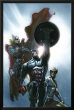 Secret Invasion No.8 Cover: Captain America, Wolverine and Thor Prints by Gabriele DellOtto