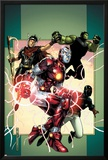 Young Avengers No.3 Cover: Iron Lad, Wiccan, Hulkling and Patriot Print by Jim Cheung