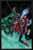 Free Comic Book Day No.1 Cover: Spider-Man, Iron Man and Hulk Prints by David Nakayama