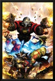 Guardians Of The Galaxy No.1 Cover: Star-Lord, Drax The Destroyer and Rocket Raccoon Prints by Paul Pelletier
