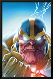 Lockjaw and The Pet Avengers No.4 Headshot: Thanos Print by Ig Guara