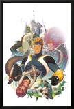 I Heart Marvel: Masked Intentions No.1 Cover: Justice, Speedball, Squirrel Girl and Firestar Posters by Gez Fry