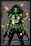 She-Hulk No.26 Cover: She-Hulk Fighting Print by Greg Land
