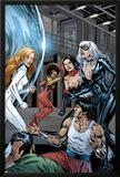 Heroes For Hire No.7 Group: Black Cat, Knight, Misty, Tarantula, Shang-Chi, Wing and Colleen Posters by Al Rio