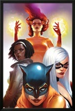 Marvel Divas No.2 Cover: Hellcat, Black Cat, Photon and Firestar Posters