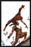Secret Invasion No.7 Cover: Spider-Man and Wolverine Prints by Gabriele DellOtto
