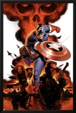 Captain America No.1 Cover: Captain America, Nick Fury and Black Widow Posters by Steve Epting