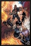Avengers: The Initiative No.16 Group: Nick Fury, Phobos, Yo-Yo, Hellfire, Druid, Stonewall & Quake Posters by Stefano Caselli