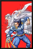 New Mangaverse No.2 Cover: Wolverine and Lady Deathstrike Fighting Print by Tommy Ohtsuka