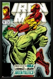 Iron Man No.305 Cover: Iron Man and Hulk Fighting Prints by Kev Hopgood
