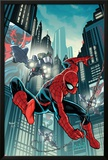 Timestorm 2009/2099: Spider-Man One-Shot No.1 Cover: Spider-Man Fighting Print by Paul Renaud