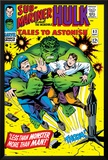 Tales to Astonish No.83 Cover: Hulk and Thunderbolt Ross Prints by Dick Ayers