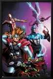 Avengers vs. Pet Avengers No.1 Cover: Thor, Captain America, Iron Man, Throg, Lockjaw, and Lockheed Posters by Ig Guara