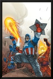 The New Invaders No.2 Cover: Captain America Prints by Scott Kolins