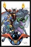 The Last Defenders No.6 Cover: She-Hulk and Nighthawk Photo by Jim Muniz
