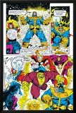 Infinity Gauntlet No.6 Group: Thanos, Hulk, Thor and Dr. Strange Poster by George Perez