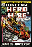 Marvel Comics Retro: Luke Cage, Hero for Hire Comic Book Cover No.3, Mace in Helicopter Posters