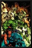 Incredible Hulk No.612 Cover: A-Bomb, Red She-Hulk, She-Hulk, Hulk, Skaar, and Bruce Banner Posters by Carlo Pagulayan