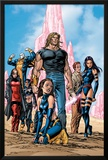 New Exiles No.1 Group: Sabretooth, Psylocke and Cat Crouching Prints by Tom Grummett