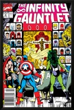 Infinity Gauntlet No.2 Cover: Captain America, Thor and She-Hulk Print by George Perez