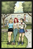Spider-Man Loves Mary Jane Season 2 No.4 Cover: Mary Jane Watson, Stacy, Gwen, and Liz Allen Photo by Terry Moore