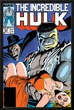 Incredible Hulk No.335 Cover: Hulk, Wagner, Adria and Stalker Prints by John Ridgway