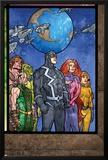 Secret Invasion: Inhumans No.4 Group: Black Bolt, Medusa, Karnak, Gorgon, Crystal and Triton Print by Tom Raney