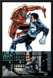 Daredevil Vs Punisher No.1 Cover: Daredevil and Punisher Posters by Dave Lapham