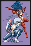 New Mangaverse No.3 Cover: Black Cat and Elektra Posters by Tommy Ohtsuka