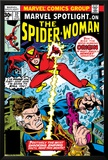 Marvel Spotlight: Spider-Woman No.32 Cover: Spider Woman and Nick Fury Fighting Posters by Sal Buscema