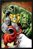 Marvel Monsters: Ulysses Bloodstone Group: Red Ronin and Fin Fang Foom Prints