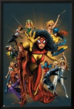 The Official Handbook Of The Marvel Universe: The Women of Marvel 2005 Cover: Spider Woman Charging Photo by Greg Land